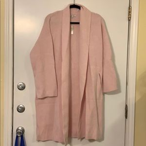 Madewell Pink Sweater Coat NWT